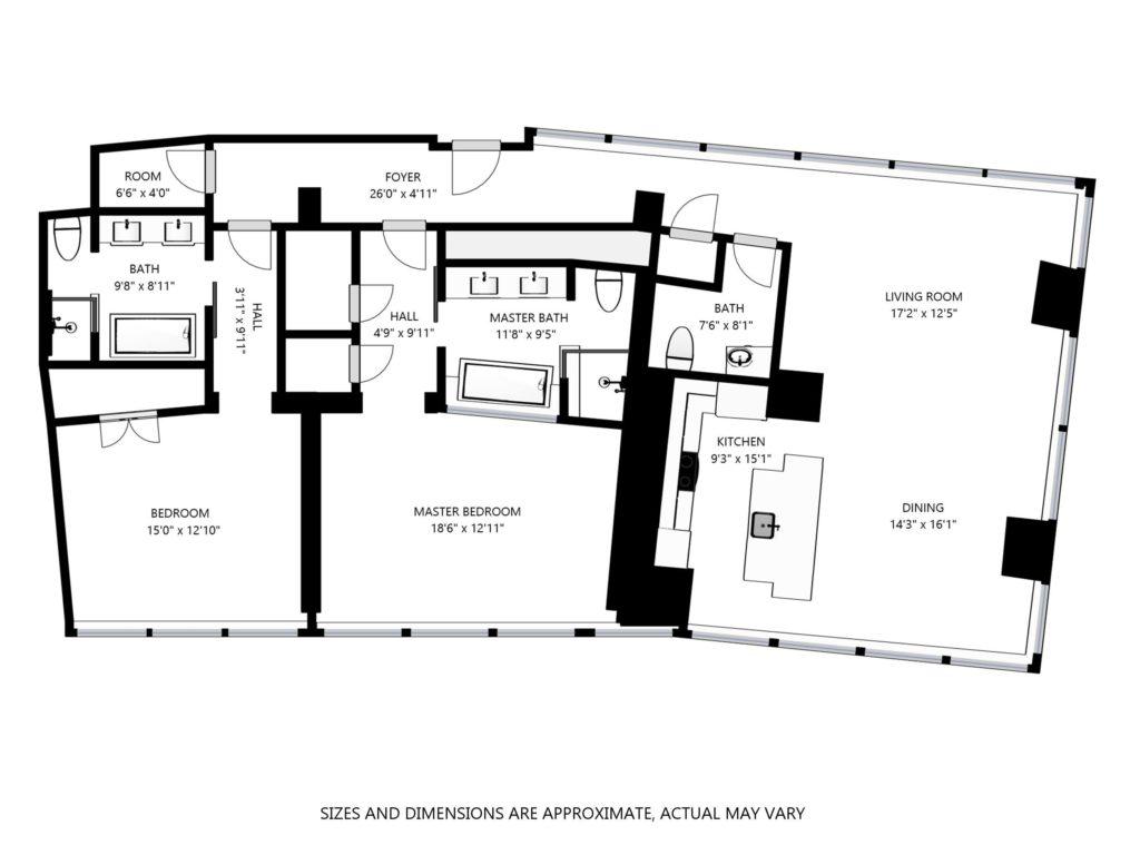 Panorama Strip View Suites 2 Bedroom Suites At Vdara Las Vegas Strip